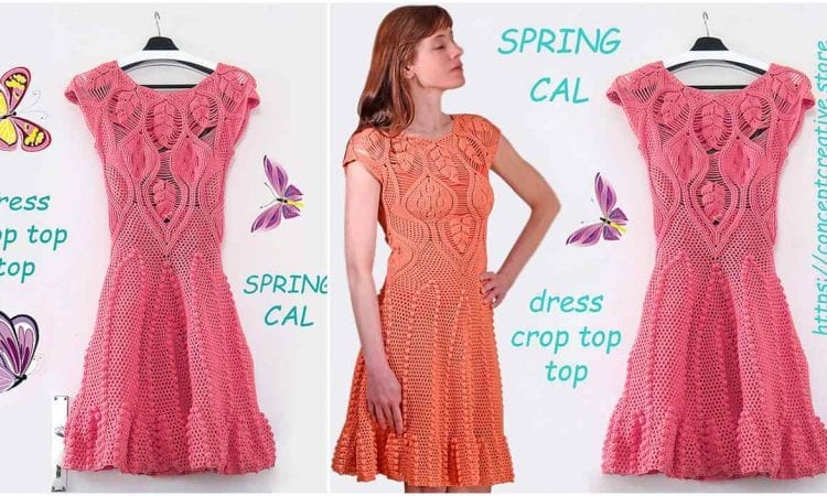 Spring Dress Cal Free Crochet Pattern