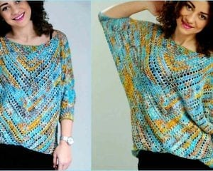 Starry Night Blouse Free Crochet Pattern