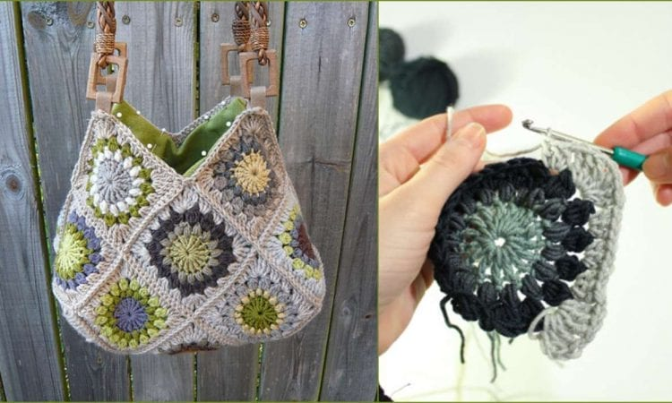 Sunburst Flower Granny Square Free Crochet Pattern