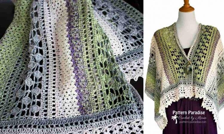 Winter Indulgence Wrap Free Crochet Pattern