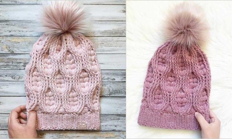 Woven Hearts Beanie Free Crochet Pattern