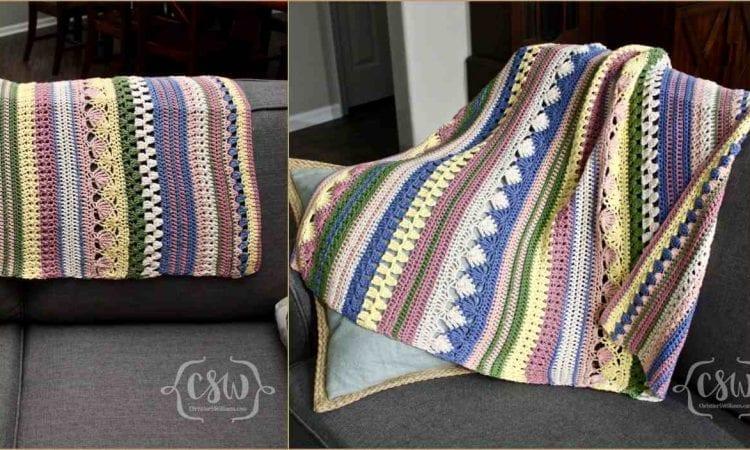 Bohot Striped Baby Blanket Free Crochet Pattern