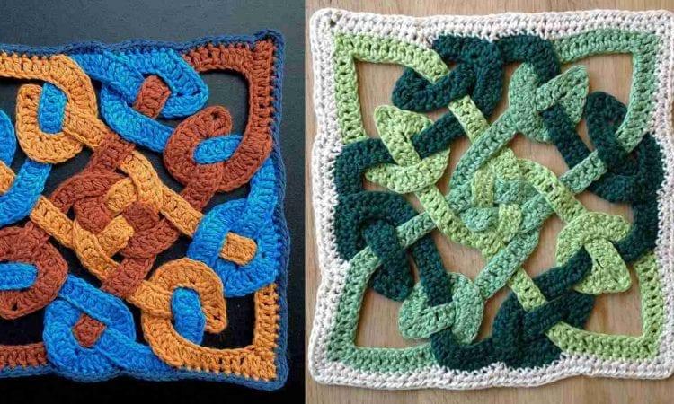 Celtic Knot Motif Free Crochet Pattern