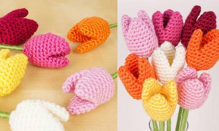 Tulips Free Crochet Pattern