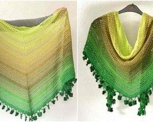 Wish Me Luck Shawl Free Crochet Pattern