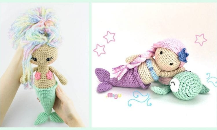 Aurora Mermaid Free Crochet Pattern