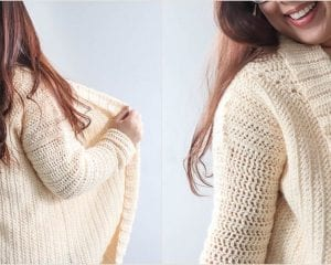 Cozy Cardigan Shrug in 18 Sizes Free Crochet Pattern
