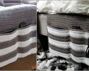 Cozy Couch Bedside Organizer Caddy Free Crochet Pattern