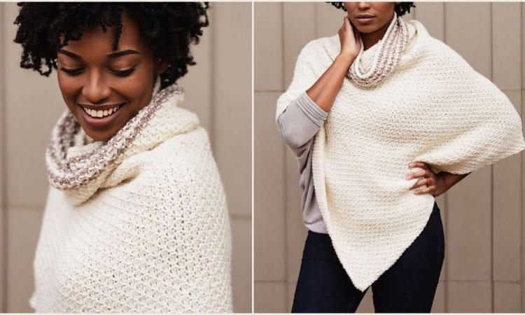 Elegant Poncho Free Crochet Pattern