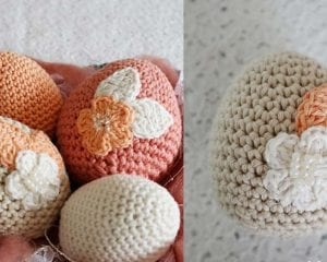 Floral Easter Eggs Free Crochet Pattern