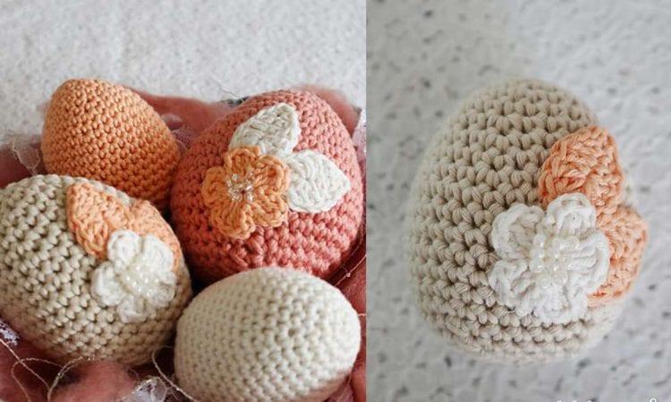 Floral Easter Eggs Free Crochet Pattern