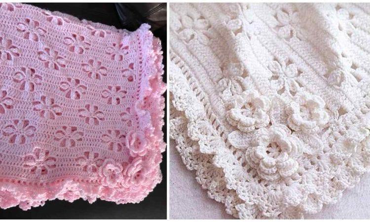 Flower Baby Blanket Free Crochet Pattern