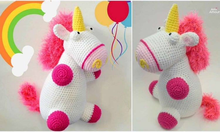Fluffy Unicorn Free Crochet Pattern