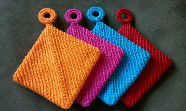 Folded Potholder Free Crochet Pattern