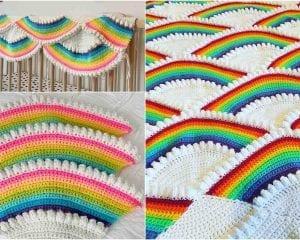 Rainbow Afghan Free Crochet Pattern