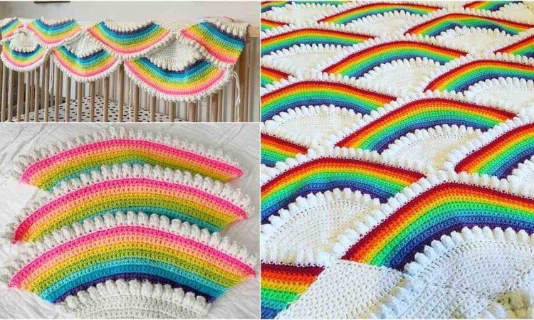 59669581fb3 Rainbow Afghan Free Crochet Pattern
