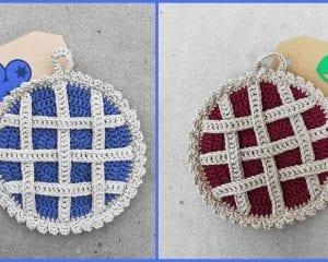 Lattice Pie Pot Holder Free Crochet Pattern
