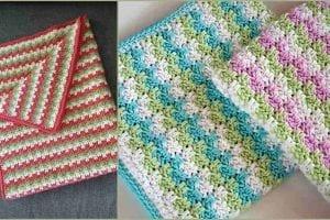 Leaping Stripes and Blocks Blanket Free Crochet Pattern
