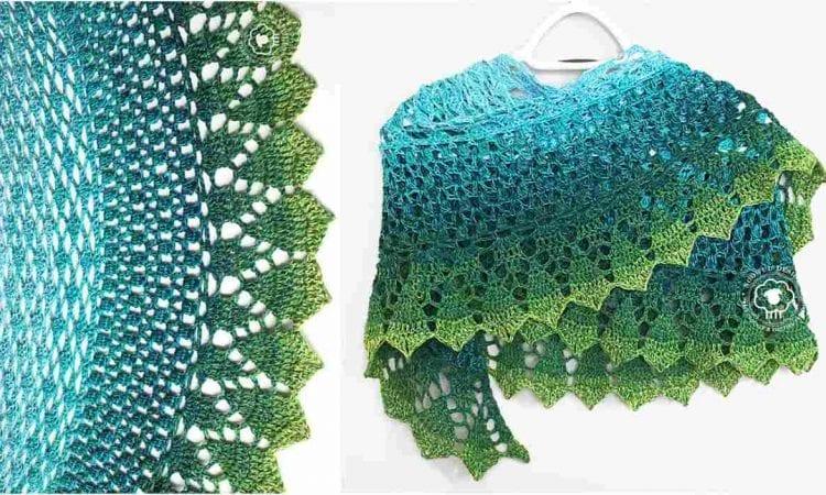 Marina Shawl Free Crochet Pattern