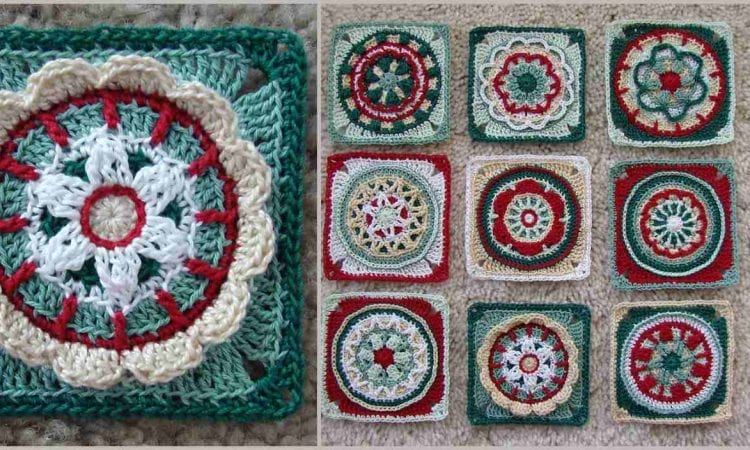 Overlay Crochet and Nine Circles of the Sun Free Pattern