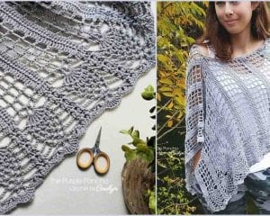 Pineapple Poncho Free Crochet Pattern