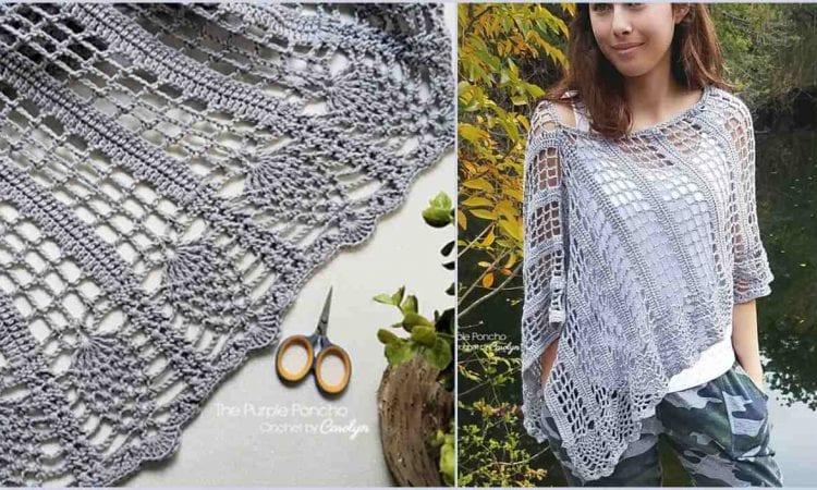 Pineapple Poncho Free Crochet Pattern