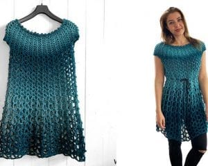 Poncho Dress Free Crochet Pattern