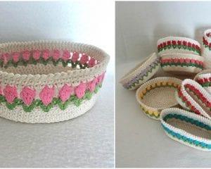 Spring Basket Free Crochet Pattern