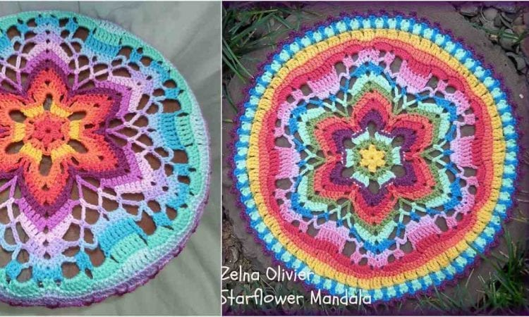 Starflower Mandala Free Crochet Pattern