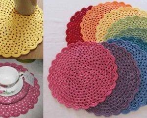 Tea Party Placemats Free Crochet Pattern