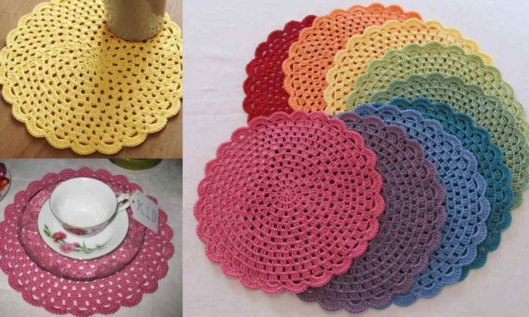 Tea Party Placemats Free Crochet Pattern