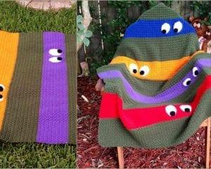 Teenage Mutant Ninja Turtle Blanket Free Crochet Pattern
