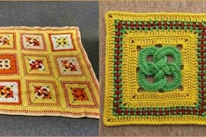 Waldo's Puzzle Square for Afghan Free Crochet Pattern
