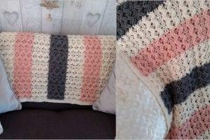 Waves Blanket Throw Free Crochet Pattern