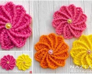 Wheel Flower Free Crochet Pattern