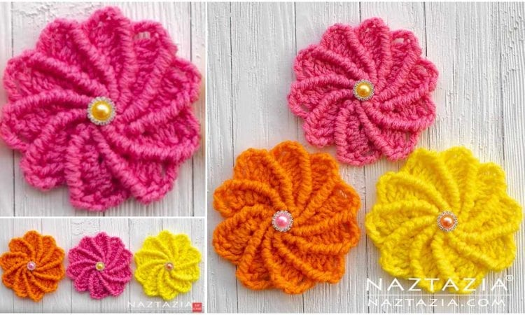 Wheel Flower Free Crochet Pattern