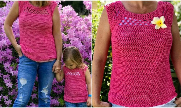 Midnight Sleeveless Top Free Crochet Pattern