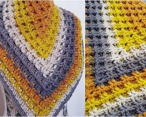 Alaskan Waffle Shawl Free Crochet Pattern