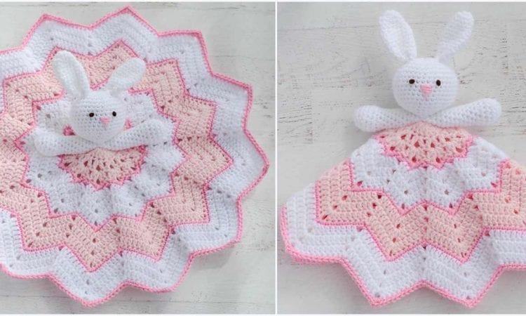 Bunny Lovey Blanket Free Crochet Pattern Your Crochet