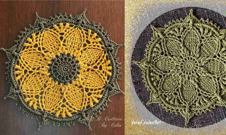 Clematis Mini Doily Free Crochet Pattern