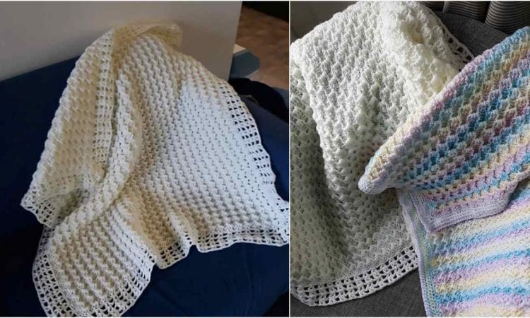 Crystal Waves Reversible Baby Blanket Pattern