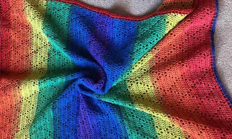 Diamond Stitch Afghan Free Crochet Pattern