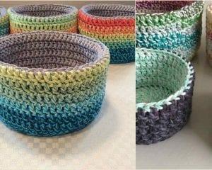 Double Double Basket Free Crochet Pattern