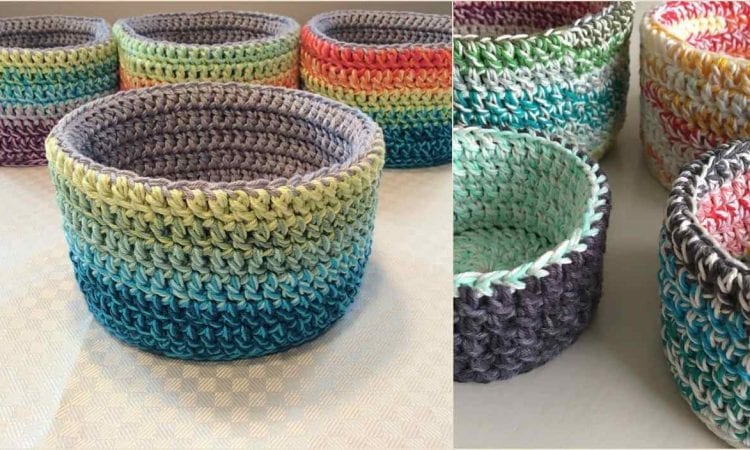 Double Double Basket Free Crochet Pattern