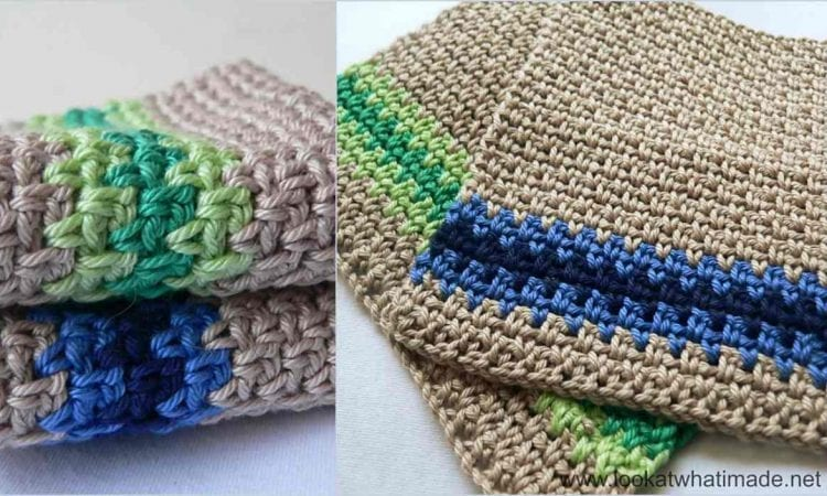Linen Stitch Dishcloth Free Crochet Pattern