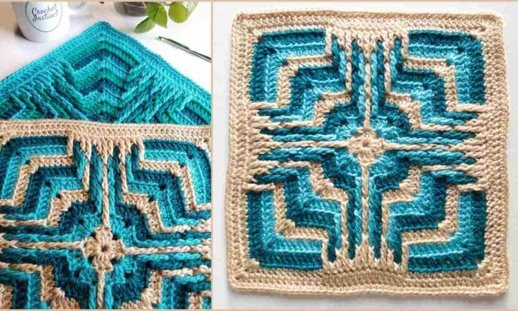 Star Portal Square Free Crochet Pattern