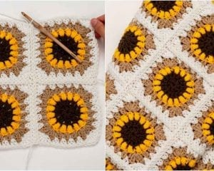 The Sunflower Blanket Free Crochet Pattern
