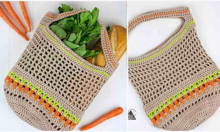 Vegetable Market Bag Free Crochet Pattern