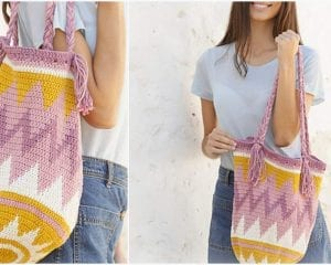 Andes Sunrise Bag Free Crochet Pattern