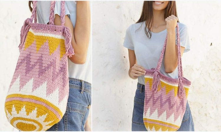 Andes Sunrise Bag Free Crochet Pattern